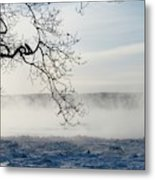 Fog Over The River Metal Print