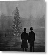 Foggy Christmas Metal Print