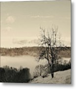 Foggy Mountain I Metal Print