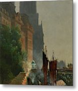 For Notre Dame, Foggy Morning Metal Print