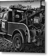 Ford F4 Tow The Truck Business End Black And White Metal Print