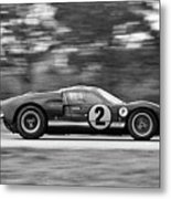 Ford Prototype Racecar On Track Metal Print