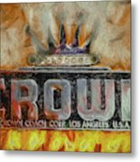 Forged In Fire - Crown - Oil Metal Print