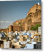 Fort Mehrangarh And Old Town In Jodhpur Metal Print