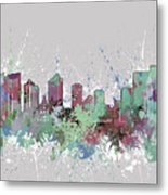 Fort Worth Skyline Artistic Pastel Metal Print