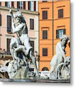 Fountain Of Neptune Metal Print
