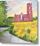 Fountains Abbey In Yorkshire Through Japanese Eyes Metal Print