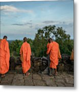 Four Monks And A Phone. Metal Print