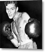 Frank Sinatra In Boxing Pose Metal Print