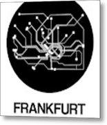 Frankfurt Black Subway Map Metal Print