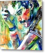 Freddie Mercury With Cigarette Metal Print