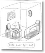 Freelance Test Rat Metal Print