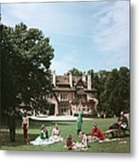 French Stately Home Metal Print