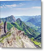 French Village In The Pyrenees Metal Print