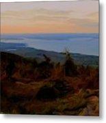 Frenchman's Bay From Cadillac Mountain Digital Photo Art Metal Print