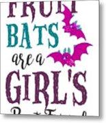 Fruit Bat Conservation Halloween Flying Fox Women Light Metal Print