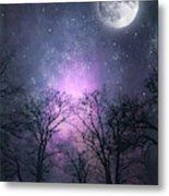 Full Moon Night Magic Metal Print