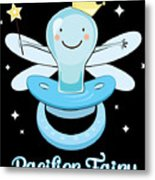 Fun Pacifier Fairy Boys To Give Up Pacifiers Metal Print