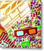 Funky Film Festival Metal Print