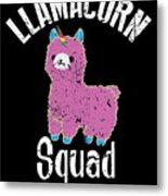 Funny Llamacorn Squad Unicorn Alpaca Lama Metal Print