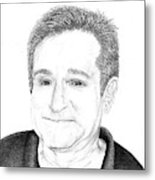 Funny Man Robin Williams Metal Print