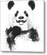 Funny Panda Metal Print
