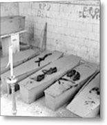 Funural Coffin Group Metal Print