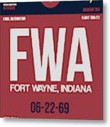 Fwa Fort Wayne Luggage Tag II Metal Print