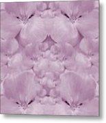 Garden Of Big Paradise Flowers Ornate Metal Print