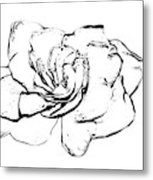 Gardenia Paint My Sketch Metal Print
