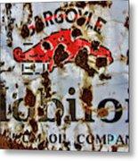 Gargoyle Mobiloil Vacuum Oil Co Rusty Sign Metal Print