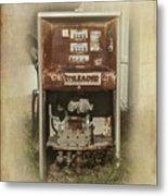 Gas Pump - Everett Corner Store Metal Print