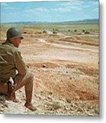 General Patton In The Desert Metal Print