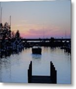 Calm Sunset Finish Metal Print
