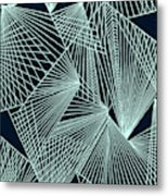 Geometric Pattern 1-colour-6 Metal Print