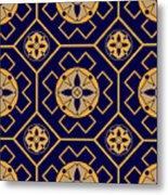 Geometric Seamless Pattern Metal Print