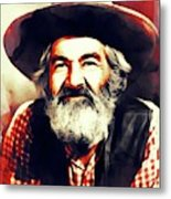 George Gabby Hayes, Vintage Actor Metal Print