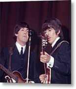 George Harrison, Paul Mccartney Metal Print