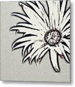Gerbera Flower Shape Metal Print