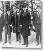 German Delegation To Peace Conference Metal Print
