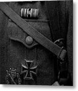German Soldier Ww2 Black And White Metal Print