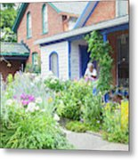 Getting Ready For Buffalo's Garden Walk 2019 Metal Print