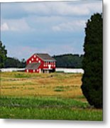 Red Barn On Sherfy Farm Gettysburg Metal Print