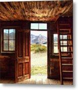 Ghost Town Cabin Metal Print