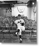 Gil Hodges Of The 1969 New York Mets Metal Print
