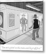 Gitten On This Train Metal Print