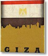 Giza Egypt World City Flag Skyline Metal Print