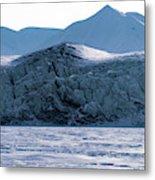 Glacier Cracked Under Pressure Metal Print