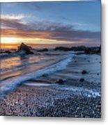 Glass Beach Sunset Metal Print