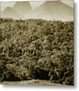 Glass House Mountains Metal Print
